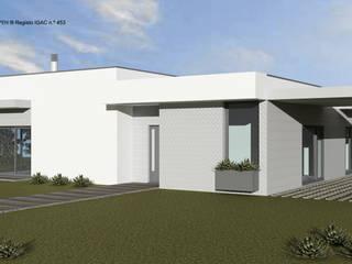 ATELIER OPEN ® - Arquitetura e Engenharia Villa Holzspanplatte Grau