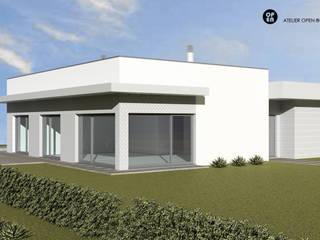 ATELIER OPEN ® - Arquitetura e Engenharia Fertighaus Keramik Weiß