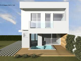 ATELIER OPEN ® - Arquitetura e Engenharia Rumah tinggal Kayu Lapis White