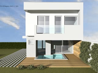 ATELIER OPEN ® - Arquitetura e Engenharia Einfamilienhaus Sperrholz Weiß