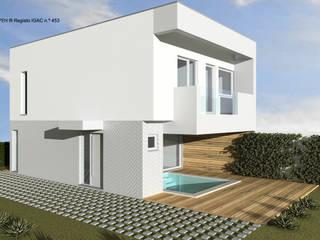 ATELIER OPEN ® - Arquitetura e Engenharia Rumah pasif Kayu Buatan Wood effect