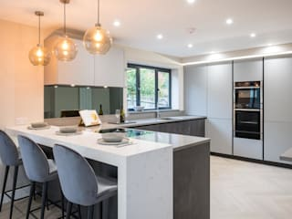 Upside down House PTC Kitchens Built-in kitchens Grey