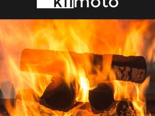 kiimoto kamine Living roomFireplaces & accessories Aluminium/Zinc Black