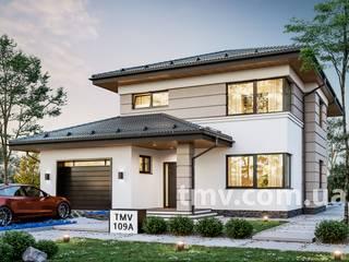 Стильный двухэтажный коттедж с террасой TMV 109A от TMV Architecture company