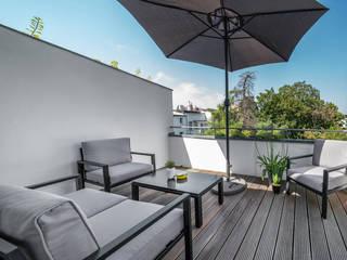 Ferienwohnung Raumblüte Balkon, Veranda & TerrasseMöbel