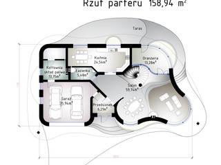 Rezydencja FLORO Eklektyczny salon od Architekt Villanette Eklektyczny
