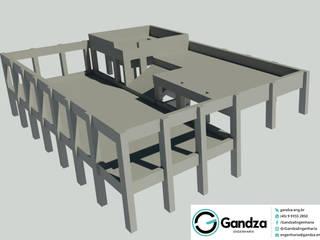 GANDZA ENGENHARIA Piscinas de estilo moderno Concreto