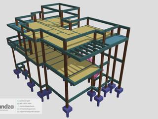 Projeto Estrutural Palotina por GANDZA ENGENHARIA Moderno
