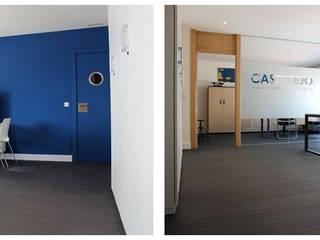 Reforma integral oficinas Estudios y despachos de estilo moderno de CRUCES ESTUDIO INTERIORISMO S.L. Moderno