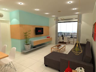 Apartamento R&C por JP GOMES ARQUITETURA Moderno