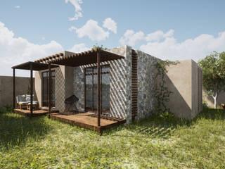 Bungalows rzoarquitecto Casas de campo Piedra
