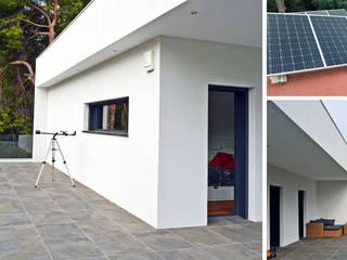 jjdelgado arquitectura Balkon, Beranda & Teras Minimalis