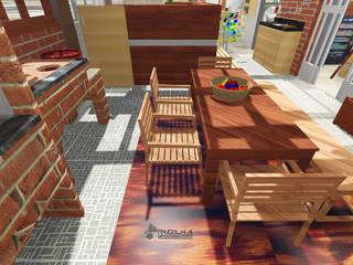 Apartamento de Cobertura - Hitalli e Eron - Etapa 1 - Área Externa Padilha Arquitetura e Urbanismo Cozinhas rústicas