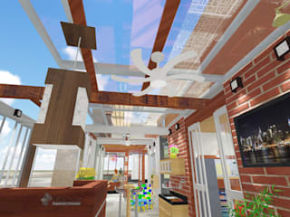 Apartamento de Cobertura - Hitalli e Eron - Etapa 1 - Área Externa Padilha Arquitetura e Urbanismo Telhados