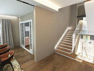 现代客厅設計點子、靈感 & 圖片 根據 50GR Mimarlık 現代風