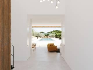 Promoción viviendas, Santa María, Palma de Mallorca. ponyANDcucoBYgigi Pasillos, vestíbulos y escaleras de estilo minimalista