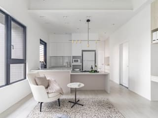 與貓的快意共棲 文儀室內裝修設計有限公司 現代廚房設計點子、靈感&圖片