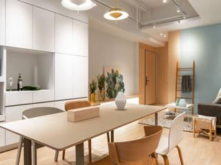 北歐自然居 文儀室內裝修設計有限公司 餐廳 Wood effect