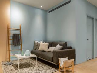 北歐自然居 文儀室內裝修設計有限公司 客廳 Blue