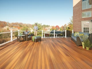 Exclusieve tuinproducten Tropical style balcony, veranda & terrace Engineered Wood Brown