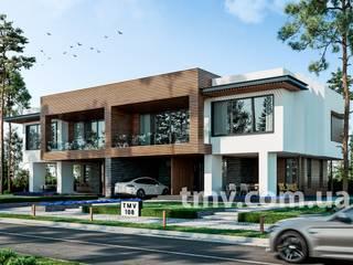 Стильный сблокированный дом на 2 семьи от TMV Architecture company