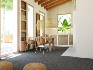 Reforma casa Slow living en Palma de Mallorca. ponyANDcucoBYgigi Comedores de estilo mediterráneo
