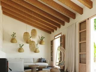 Reforma casa Slow living en Palma de Mallorca. ponyANDcucoBYgigi Salones de estilo mediterráneo