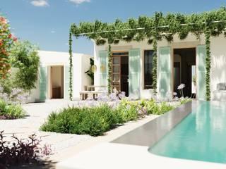 Reforma casa Slow living en Palma de Mallorca. ponyANDcucoBYgigi Jardines delanteros