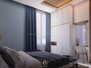 Rancang Reka Ruang Small bedroom Bricks Grey