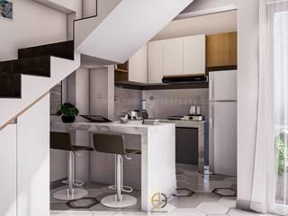 Rancang Reka Ruang Small kitchens White