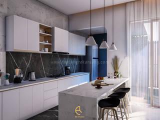 Rancang Reka Ruang Kitchen units Grey
