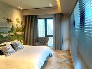 MSBT 幔室布緹 Tropical style bedroom Engineered Wood Wood effect