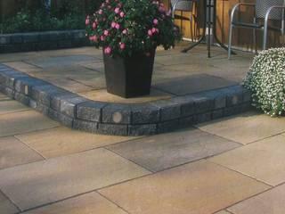 Raj Green Sandstone by Royale Stones Royale Stones Limited Garajes de estilo moderno