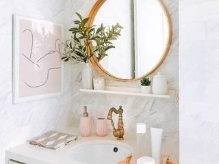 Under-mount Sink Lakkad Works 現代浴室設計點子、靈感&圖片