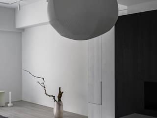 開普敦之旅 文儀室內裝修設計有限公司 现代客厅設計點子、靈感 & 圖片 White