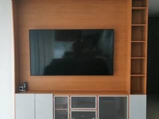 Apto. 1406 Salas modernas de LABEL Estudio Creativo Moderno