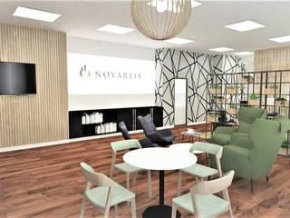 CHILL OUT WORKSPACE NOVARTIS JUST INTERIORS Przestrzenie biurowe i magazynowe