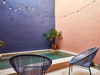 Quinto Distrito Arquitectura Garden Pool Concrete Blue