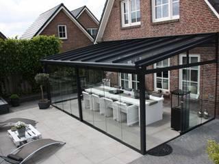 Techosdemadrid Balcones y terrazas modernos: Ideas, imágenes y decoración Aluminio/Cinc