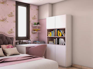 Daughter room Study and storage unit Lakkad Works Modern style study/office