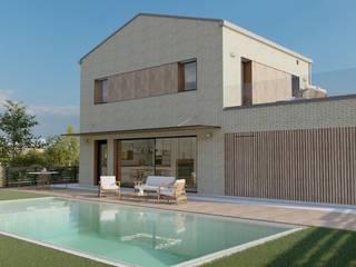 Vivienda unifamiliar en Elcano (Navarra) - LumaHaus - Passivhaus Plus GA Arkitectura │arquitectura & passivhaus │ Casas de estilo minimalista Madera Acabado en madera
