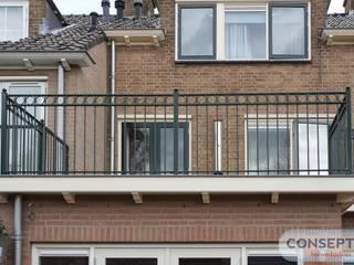 Consepto Hekwerk Balkon Besi/Baja Green