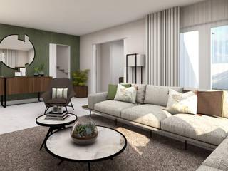 Projeto Estoril 4Ponto7 Sala de estarSofás e divãs Mármore Verde