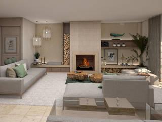 Projeto Tróia 4Ponto7 Sala de estarSofás e divãs Madeira Verde