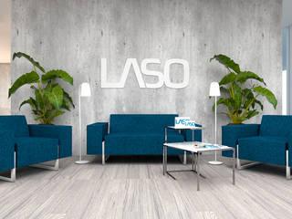 Escritório LASO 4Ponto7 Escritórios modernos Metal Azul