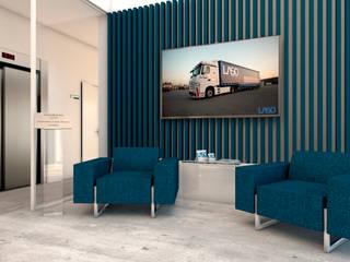 Escritório LASO 4Ponto7 Escritórios modernos Madeira Azul