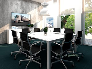 4Ponto7 Modern style study/office Iron/Steel Blue