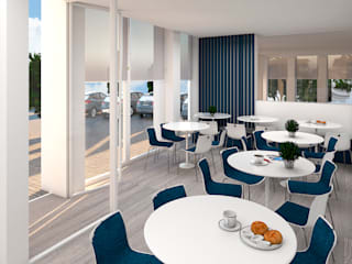 4Ponto7 Modern style study/office Wood Blue
