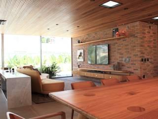 Geraldo Brognoli Ludwich Arquitetura Modern Living Room Wood