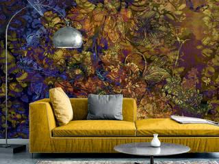 La Aurelia Paredes y pisosPapel tapiz Ámbar/Dorado